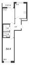 Продажа 2-комнатной квартиры, 54.4 м2 - Фото 2