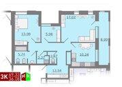 Продажа трехкомнатная квартира 69.33м2 в ЖК Каменный ручей гп-4