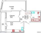 Квартира 2-комнатная в новостройке Саратов, Октябрьский р-н, Купить квартиру в Саратове по недорогой цене, ID объекта - 315824485 - Фото 4