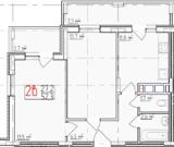 1 670 400 Руб., 2-ком в Добром, Купить квартиру в новостройке от застройщика в Владимире, ID объекта - 314795211 - Фото 2