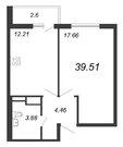 Продажа 1-комнатной квартиры, 39.51 м2 - Фото 2