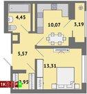 Продажа однокомнатная квартира 36.35м2 в ЖК Солнечный гп-1, секция ж
