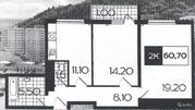 2-к квартира, 60.7 м, 4/16 эт.