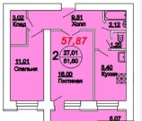 2 400 000 Руб., Двухкомнатная, город Саратов, Аренда квартир в Саратове, ID объекта - 319525319 - Фото 2