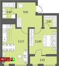 3 030 000 Руб., Продажа однокомнатная квартира 45.71м2 в ЖК Суходольский квартал гп-1, ., Купить квартиру в Екатеринбурге по недорогой цене, ID объекта - 317096740 - Фото 1