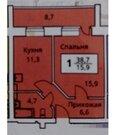 1 комнатная квартира в новом доме с ремонтом, ул. Суходольская, Купить квартиру в Тюмени по недорогой цене, ID объекта - 323437732 - Фото 12