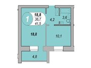 Продам 1-тную квартиру Шаумяна 122, 41кв.м14 эт.Цена 1950т.р, Купить квартиру в новостройке от застройщика в Челябинске, ID объекта - 327090570 - Фото 3