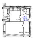1-комнатная квартира в доме с индивидуальным газовым отоплением - Фото 5