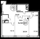 """50 000 000 Руб., ЖК """"Royal House on Yauza""""- Пентхаус 106,5 кв.м, 10этаж, 1 секция, Купить квартиру в Москве по недорогой цене, ID объекта - 319552716 - Фото 2"""