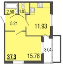 Продам 1к. квартиру. Вишневая ул. к.4-16