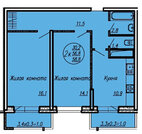 2-к квартира Восточно-Кругликовкой!, Купить квартиру в Краснодаре по недорогой цене, ID объекта - 323100873 - Фото 2