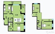 4-к квартира, 133 м, 9/9 эт.