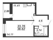 Продажа 1-комнатной квартиры, 33.76 м2 - Фото 2