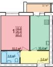 Новая квартира с индивидуальным отоплением в п.Щедрино от подрядчика, Купить квартиру в новостройке от застройщика в Ярославле, ID объекта - 324830580 - Фото 35