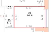 Аренда офиса 16,8 кв.м, Проспект Ленина, Аренда офисов в Екатеринбурге, ID объекта - 600879232 - Фото 6