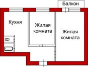 Продается квартира 45 кв.м, г. Хабаровск, ул. Даниловского, Купить квартиру в Хабаровске по недорогой цене, ID объекта - 319205758 - Фото 3