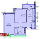 Продажа двухкомнатная квартира 55.26м2 в ЖК Рудный секция 1.3
