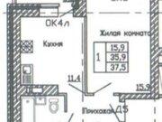 1 725 835 Руб., Продажа однокомнатной квартиры в новостройке на улице Кривошеина, ., Купить квартиру в Воронеже по недорогой цене, ID объекта - 320573701 - Фото 2