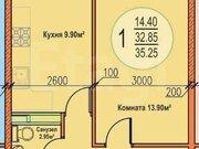 Продажа однокомнатной квартиры на Российской улице, 267к3 в Краснодаре, Купить квартиру в Краснодаре по недорогой цене, ID объекта - 320268917 - Фото 2