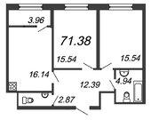 Продажа 2-комнатной квартиры, 71.38 м2, Аптекарский пр-кт, д. 5, Купить квартиру в новостройке от застройщика в Санкт-Петербурге, ID объекта - 324730087 - Фото 2