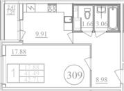 Продается уютная 1 кв. в новом доме класса комфорт на пр. М.Блюхера - Фото 2