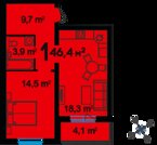 3 194 800 Руб., Продажа квартиры, Тюмень, Ул. Федюнинского, Купить квартиру в Тюмени по недорогой цене, ID объекта - 320237660 - Фото 1