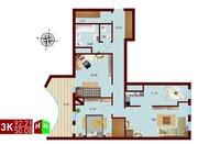 Продажа трехкомнатная квартира 92.21м2 в ЖК монтекристо секция а