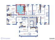 Квартира 1-комнатная в новостройке Саратов, Волжский р-н, ул Весенняя, Купить квартиру в Саратове по недорогой цене, ID объекта - 314781503 - Фото 2