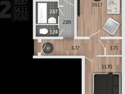 2 226 747 Руб., Продажа двухкомнатной квартиры в новостройке на Корейской улице, влд6а ., Купить квартиру в Воронеже по недорогой цене, ID объекта - 320573636 - Фото 1