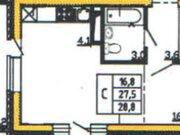 Продажа однокомнатной квартиры в новостройке на улице Кривошеина, ., Купить квартиру в Воронеже по недорогой цене, ID объекта - 320573390 - Фото 1
