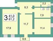 Продажа квартиры, Рязань, Строитель, Купить квартиру в Рязани по недорогой цене, ID объекта - 322620459 - Фото 4