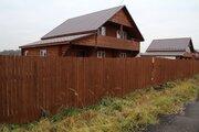 Дом двухэтажный бревенчатый с коммуникациями 15 соток в д.Площево