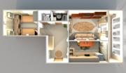 Двухкомнатная квартира на Кривова 53 корп. 2, Купить квартиру по аукциону в Ярославле по недорогой цене, ID объекта - 324918752 - Фото 14