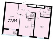 Продам 2к. квартиру. Жукова ул. к.2.2, Купить квартиру в Санкт-Петербурге по недорогой цене, ID объекта - 318428093 - Фото 1