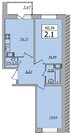 Продажа 2-комнатной квартиры, 60.36 м2