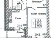 Продажа однокомнатной квартиры в новостройке на улице Кривошеина, ., Купить квартиру в Воронеже по недорогой цене, ID объекта - 320573764 - Фото 2
